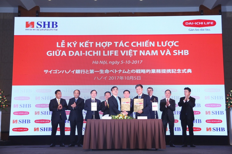 Dai-ichi Life Vietam and SHB enter into exclusive 15-year strategic bancassurance partnership